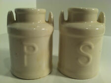 VINTAGE WHITE MILK JUG SALT & PEPPER SHAKERS