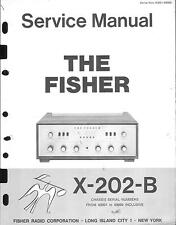 Fisher Service Manual für X-202 B