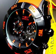 Mens Invicta 21822 Sea Spider 50mm Chronograph Black Orange Rubber Watch New