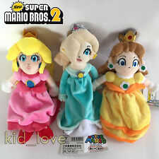 3X Super Mario Bros. Plush Princess Peach Daisy Rosalina Soft Toy Doll Teddy 9""