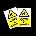 CCTV in Operation warning stickers *Pack of 2* 150x200mm A5 Sign - MISC11