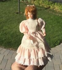 Woman Doll Victorian Girl In Pink Lace Dress Dollhouse Miniature