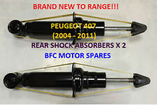 PEUGEOT 407 2004 - 2011 REAR 2 X SUSPENSION SHOCK ABSORBERS SHOCKERS PAIR NEW!!