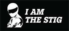 I AM THE STIG Decal Sticker Vinyl FREE SHIPPING Best Seller Top Gear Racing