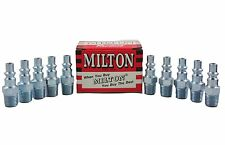 "10 Pieces Milton 777 A Style Air Hose Fittings 1/4"" Male NPT Coupler Plugs 777BK"