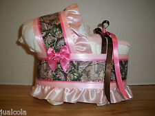 MIXED PINK HUNTING CAMO GIRL DIAPER BASSINET BABY SHOWER TABLE DECORATION
