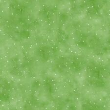 1 Half Metre length Snow Much Fun Green Snowfall Print Fabric - 23282-G