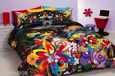 Reilly / Hearts & Flowers - Single Bed Quilt Cover Set - Funky Bedding!