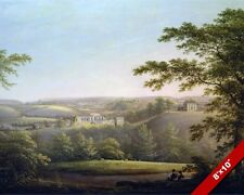 EASBY HALL & ABBEY YORKSHIRE ENGLAND LANDSCAPE PAINTING ART REAL CANVAS PRINT