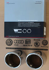 Audi A4 B8 end pipes original exhaust tips 8P0071761 chrome pipes