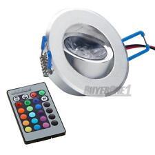 LED Einbaustrahler Einbauleuchte RGB Deckenlampe DC 12V 3W Leuchtmittel