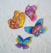 LAUREL BURCH COTTON FABRIC IRON ON BUTTERFLY APPLIQUES   #602