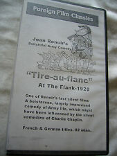 TIRE AU FLANC AT THE FLANK JEAN RENOIR ( SILENT) NTSC VHS SMALL BOX