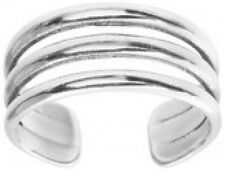 925 STERLING SILVER TRIPLE  BAND TOE RING (ADJUSTABLE)
