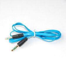 3.5mm Stereo Male to Male Jack Audio AUX Cable Cord for DVD MP3 MP4 PC Sky Blue