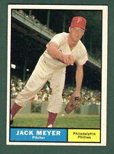 1961 TOPPS BB #111 JACK MEYER/PHILLIES EX/EX+