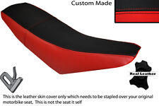 BLACK & RED CUSTOM FITS SUPERBYKE RMR 125 DUAL LEATHER SEAT COVER ONLY