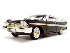 1958 PLYMOUTH FURY BLACK 1:18 DIECAST MODEL CAR BY MOTORMAX 73115
