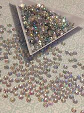 10 GROSS 3mm AB CRYSTAL CLEAR Rhinestones 1440 Pcs ss10 Faceted Flat Back Resin