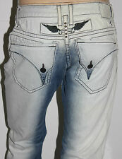 New Men's ROBIN'S JEAN sz 40 #D5696 LONG FLAP Straight Leg - Studs - PATCHED