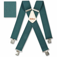 "Brimarc Mens Heavy Duty Suspender 2"" 50mm Wide Green Hunter Braces"