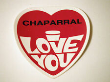 """Vintage NOS Chaparral """"I Love You"""" Snowmobile Decal"""