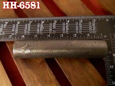 "6.4""Forge Damascus steel 22.75 MM Hollow round Pipe guard/Ring jewelry@HH-6581"
