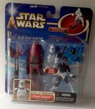 STAR WARS CLONE TROOPER With Speeder Bike Action Figure Pack 3.75""