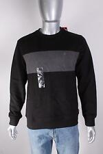 $29 IZOD Men`s Colorblock Crewneck Sweater S Small Black/Gray NEW