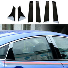 Fit For 2016 2017 Honda Civic Sedan Chrome Window Pillar Post Trim Cover Garnish