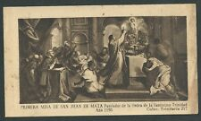 Estampa antigua de San Juan de Mata andachtsbild santino holy card santini