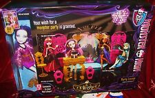 Monster High doll Spectra Vondergeist + Party Lounge 13 Wishes Play set New