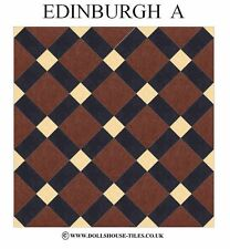 "DOLLHOUSE MINIATURES, DOLLHOUSE TILES.& FLOORING. EDINBURGH ( A ) 1""FLOOR TILES"