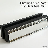 "10"" POLISHED CHROME Letter Plate Stainless Steel Door box upvc silver handle MID"