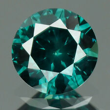 0.41 cts. CERTIFIED Round Cut SI1 Vivid Green Color Loose Natural Diamond 9109