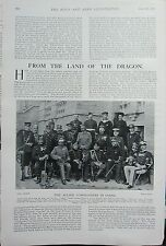 1902 PRINT ~ ALLIED COMMANDERS IN CHINA NAMED GENERAL WOJACK CREAGH COLONEL