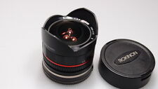 ROKINON 8mm 1:2.8 UMC FISH-EYE E LENS FITS SONY NEX EXCELLENT+++