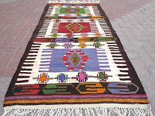 "Anatolia Turkish Antalya Nomads  Kilim Rug Carpet 37"" X 82,6"""