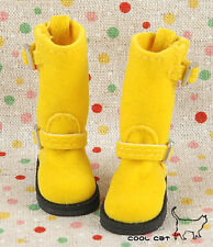 ☆╮Cool Cat╭☆【10-08】Blythe Pullip Doll Boots # Yellow