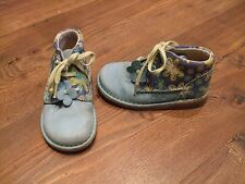 size 5 1/2 5.5 clarks girls blue floral ankle boots lace up Kids Winter