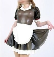 341 Latex Rubber Gummi Maid Servant Uniform Dress skirt apron customized 0.4mm