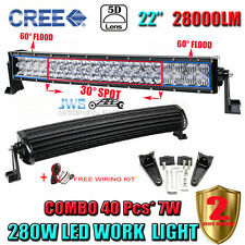 5D 22INCH 280W CREE CURVED LED LIGHT BAR COMBO OFFROAD CAR SUV FOR Nissan Altima