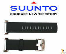 Suunto Core ORIGINAL Flat Black Rubber Watch Band Strap w/ Attachment Pins