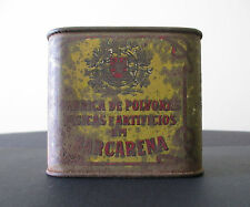 "Portugal-Gunpowder Tin/Can Box from ""Fáb. de Pólv. Fís. e Art. em Barcarena""RARE"