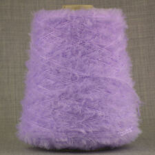 SUPER SOFT 4 PLY FEATHER EYELASH YARN PASTEL LILAC 500g CONE 10 BALL BABY GYPSY