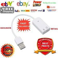 7.1 Channel USB External Sound Card Audio Adapter With Mic - Plug and Play