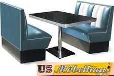 HW-120B Set American Dinerbank Sitzbank Diner Bänke Möbel 50´s Retro USA Style