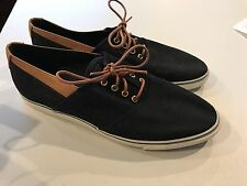 Womens BASS Sz 9.5M Boat Shoes Sneakers Fabric/Canvas Leather Upper Rubber Sole