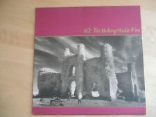 U2  - The Unforgettable Fire LP Includes Insert and textured sleeve