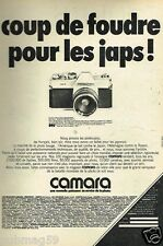 Publicité advertising 1972 Appareil photo Mamiya Sekor 500 TL chez Camara